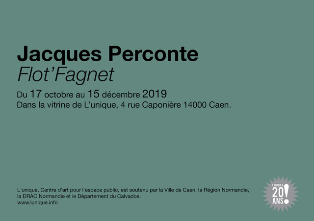 affiche exposition Jacques Perconte